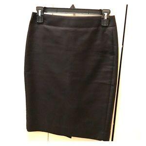 J. Crew black no. 2 cotton pencil skirt